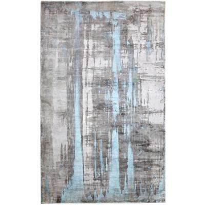 Artisan Silver/Blue 5 ft. x 8 ft. Indoor Area Rug