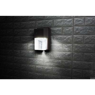 Bronze 1700-Lumen Outdoor Day Light Integrated LED Wall Pack Light