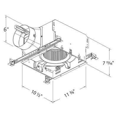 Smart Series 150 CFM Ceiling Bathroom Exhaust Fan, ENERGY STAR