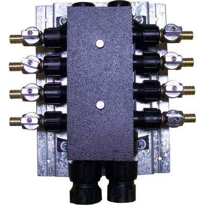 3/4 in. x 1/2 in. Plastic Female x Barb 8-Port PEX Manifold with 1/2 in. Brass Ball Valves