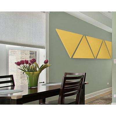 Paintable White Fabric Triangle 24 in. x 24 in. x 24 in. Sound Absorbing Acoustic Insulation Wall Panels (2-Pack)