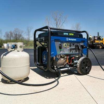 7,500-Watt Dual Fuel Gasoline or Propane Portable Generator with Remote Start