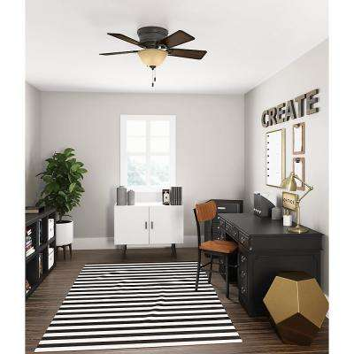 Conroy 42 in. Indoor Onyx Bengal Bronze Low Profile Ceiling Fan with Light Kit