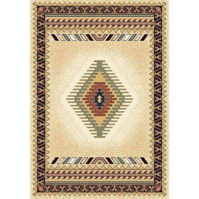 Tuscan Cream 5 ft. 3 in. x 7 ft. 6 in. Area Rug
