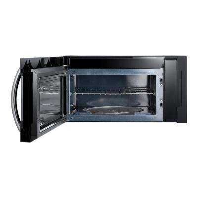 30 in. 1.7 cu. ft. Over the Range Convection Microwave in Fingerprint Resistant Black Stainless
