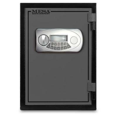 0.5 cu. ft. U.L. Classified All Steel Fire Safe with Electronic Lock in 2-Tone Black and Grey