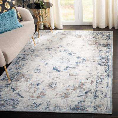Mirage Blue/Cream 8 ft. x 10 ft. Area Rug