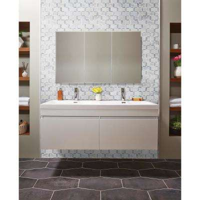 Framework 12 in. x 12 in. x 10mm Polished Marble Mesh-Mounted Mosaic Tile (10.99 sq. ft. / case)