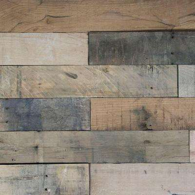 Deco Planks Picket Fence Sun Baked 1/2 in. x 4 in. Wide x 24 in. Length Solid Hardwood Wall Planks (10 sq. ft. / case)