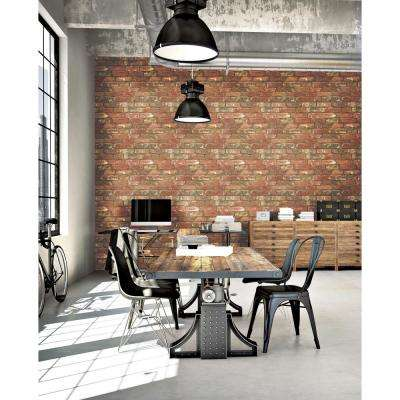 West End Brick Peel and Stick Wallpaper Sample