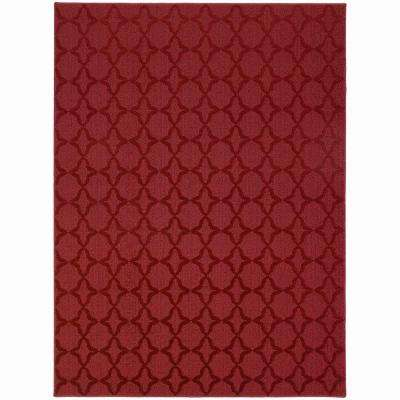 Sparta Chili Red 7 ft. 6 in. x 9 ft. 6 in. Area Rug