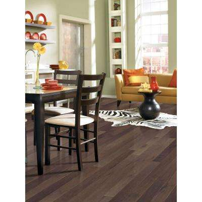Brushed Vintage Hickory Pewter 3/8 in. x 4-3/4 in. x Random Length Engineered Click Hardwood Flooring (33 sq. ft. /case)