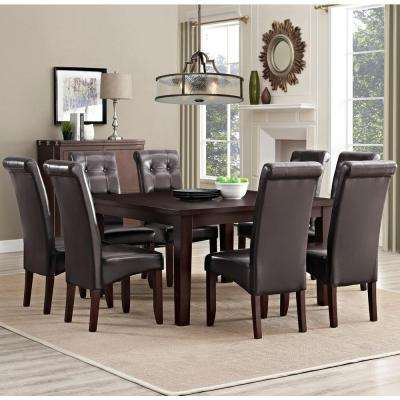 Cosmopolitan 9-Piece Tanners Brown Dining Set