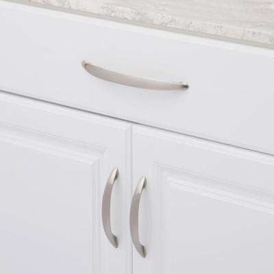 8 in. Center-to-Center Satin Nickel Grace Pull