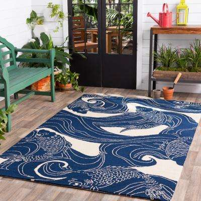 Kaweah Navy 9 ft. x 12 ft. Indoor/Outdoor Area Rug