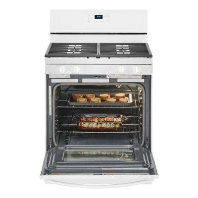 5.0 cu. ft. Gas Range with Self-Cleaning and Speed Heat Burner in White