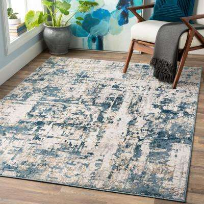 Fortunata Blue 9 ft. 3 in. x 12 ft. 3 in. Abstract Area Rug
