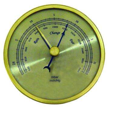 Analog Barometer with Brass Housing and 3 in. Dial