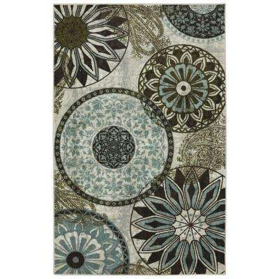 Inspired India Multi Printed 5 ft. x 7 ft. Area Rug