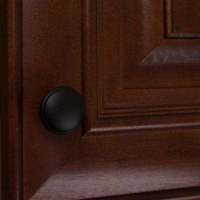 1-1/8 in. Dia Matte Black Round Ring Cabinet Knob (10-Pack)