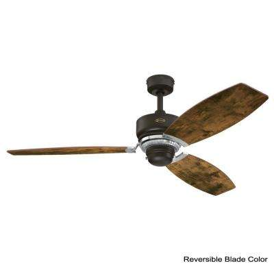 Thurlow 54 in. Weathered Bronze Ceiling Fan