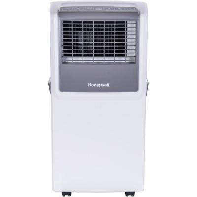 8,000 BTU Portable Air Conditioner with Front Grille and Remote Control - White/Grey