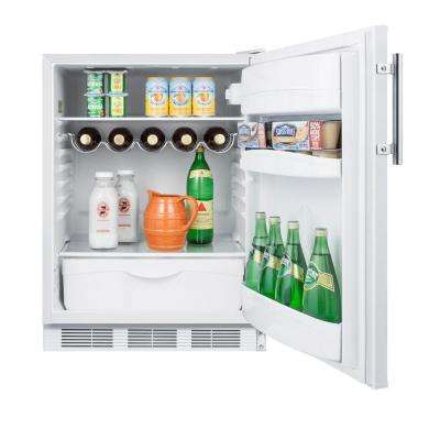 24 in. W 5.5 cu. ft. Freezerless Refrigerator in White