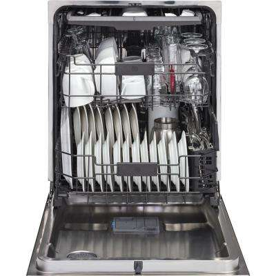 Top Control Dishwasher in Black Slate with Stainless Steel Tub and Steam Prewash, Fingerprint Resistant, 45 dBA