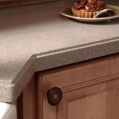 2 in. x 2 in. Solid Surface Countertop Sample in Sandstone