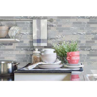 Whistler Ice Interlocking 11.81 in. x 12 in. x 8mm Textured Glass Mesh-Mounted Mosaic Tile (9.7 sq. ft. / case)