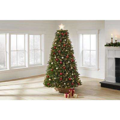 7.5 ft Dunhill Fir LED Pre-Lit Artificial Christmas Tree with 750 White Mini Lights