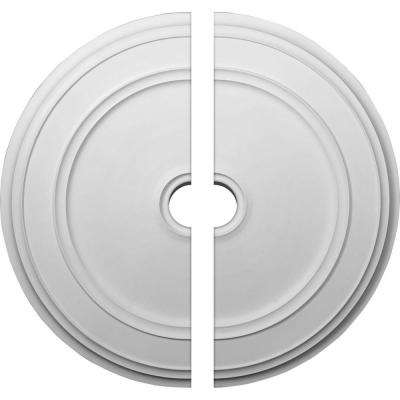 41-1/8 in. O.D. x 4 in. I.D. x 2-1/8 in. P Classic Ceiling Medallion (2-Piece)