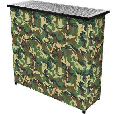 2-Shelf 39 in. L x 36 in. H Hunt Camo Portable Bar with Case
