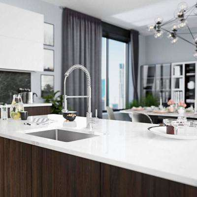 Undermount Stainless Steel 28-1/8 in. Single Basin Kitchen Sink