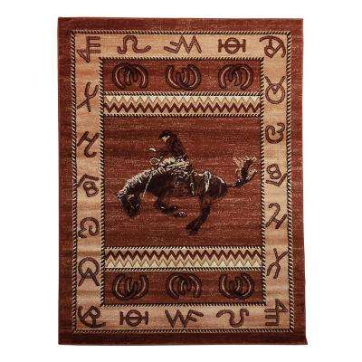 Lodge Design Cowboy Brown 7 ft. 6.5 in. x 10 ft. 5 in. Area Rug