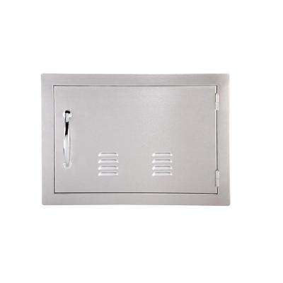 Classic Series 17 in. x 24 in. 304 Stainless Steel Horizontal Access Door w/Vents