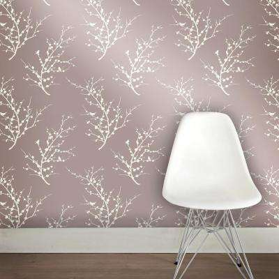 Edie Champagne Self-Adhesive Removable Wallpaper