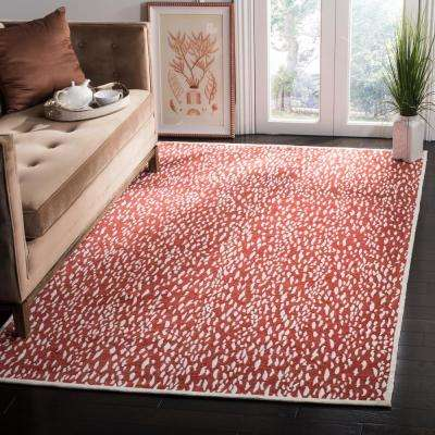 Marbella Red/Ivory 8 ft. x 10 ft. Area Rug
