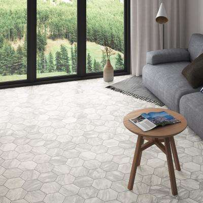 Classico Bardiglio Hexagon Light 7 in. x 8 in. Porcelain Floor and Wall Tile (7.67 sq. ft. / case)
