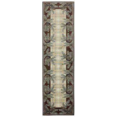Pine Cone Plaid Shell 2 ft. 1 in. x 7 ft. 10 in. Runner