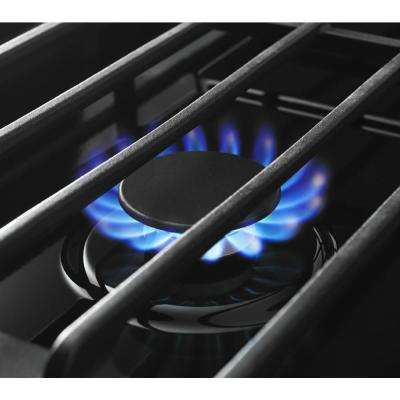 30 in. Gas Cooktop in Stainless Steel with 4 Burners including 15000-BTU SpeedHeat Burner
