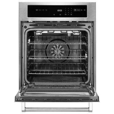 24 in. Single Electric Wall Oven Self-Cleaning with Convection in Stainless Steel