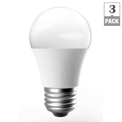 60W Equivalent Soft White A15 Dimmable LED Light Bulb (3-Pack)