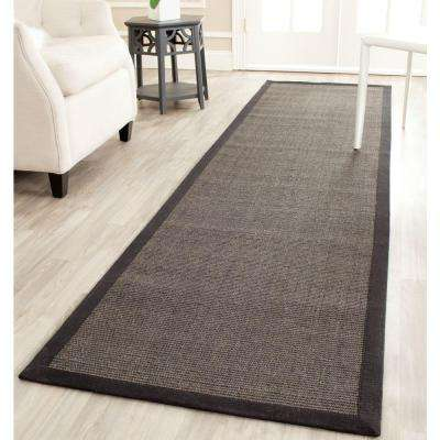 Natural Fiber Charcoal 3 ft. x 6 ft. Runner Rug
