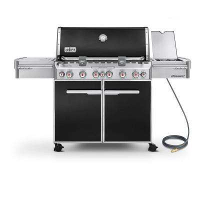 Summit E-670 6-Burner Natural Gas Grill in Black
