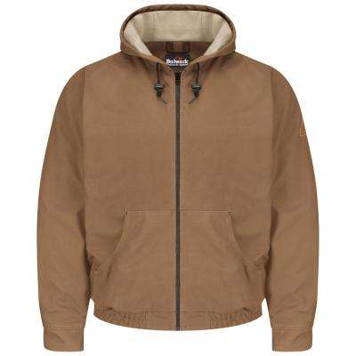 EXCEL FR ComforTouch Men's Brown Duck Brown Duck Hooded Jacket