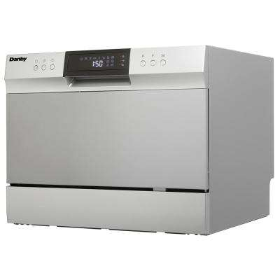 6 Place Setting, Counter-Top Dishwasher in Electronic Silver