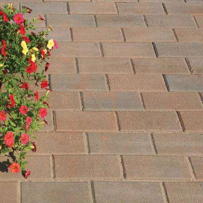 Holland 4 in. x 8 in. Red Charcoal Concrete Paver