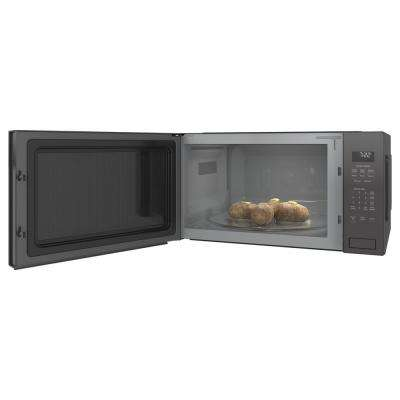 Profile 2.2 cu. ft. Countertop Microwave in Gray with Sensor Cooking