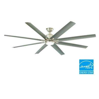 Kensgrove 72 in. LED Brushed Nickel Ceiling Fan